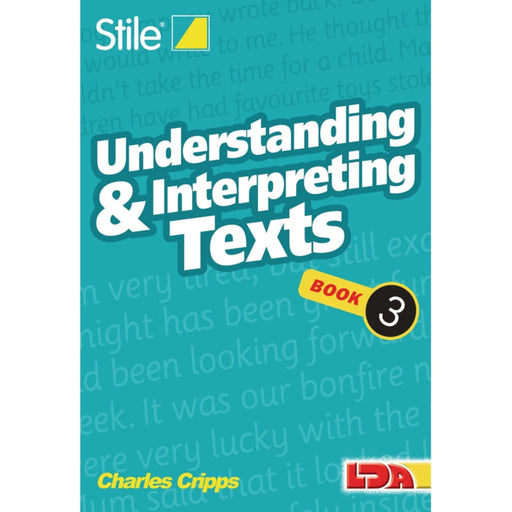 Stile Understanding Texts Book 3 - English Dyslexia Language Skills & Activities Sequencing & Predicting Spelling Stile Literacy