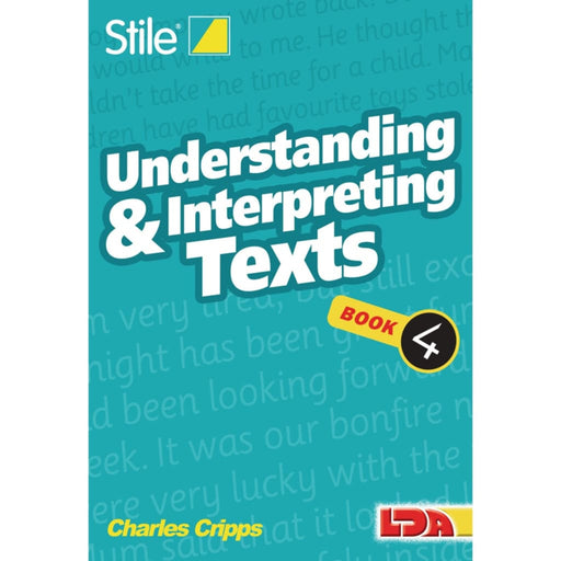 Stile Understanding Texts Book 4 - English Dyslexia Language Skills & Activities Sequencing & Predicting Spelling Stile Literacy