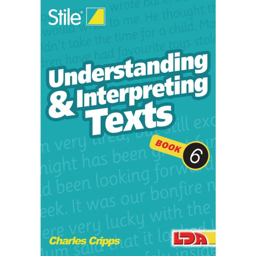 Stile Understanding Texts Book 6 - English Dyslexia Phonics & Multiphonics Sequencing & Predicting Spelling Stile Literacy