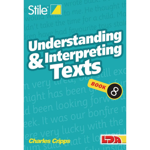 Stile Understanding Texts Book 8 - English Dyslexia Inclusion Language Skills & Activities Phonics & Multiphonics Sequencing & Predicting