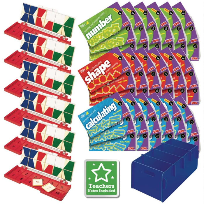 Stile Year 4/p5 Pack - Age 8-9 - Multi Pack - Maths Dyspraxia & Dysculia Number Works & Games Sequencing & Predicting Sorting & Counting