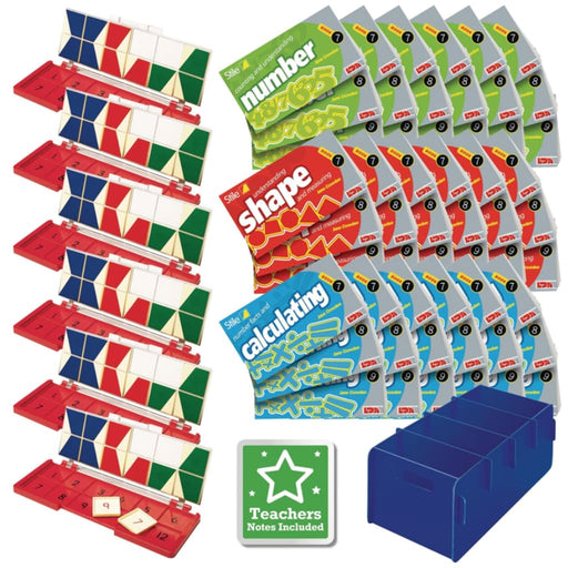 Stile Year 5/p6 Pack - Age 9-10 - Multipack - Maths Dyspraxia & Dysculia Number Works & Games Sequencing & Predicting Sorting & Counting