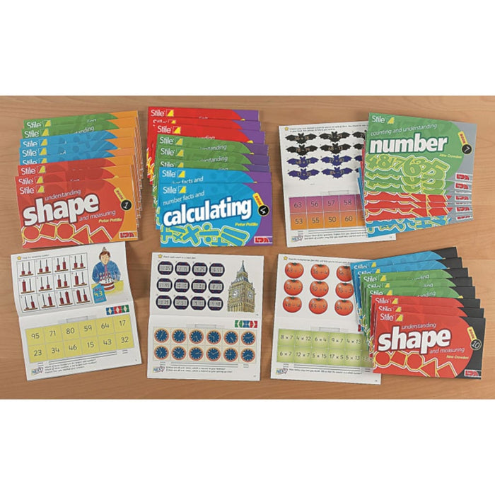Stile Year 6/p7 Pack - Age 10-11 - Multipack - Maths Dyspraxia & Dysculia Number Works & Games Sequencing & Predicting Sorting & Counting