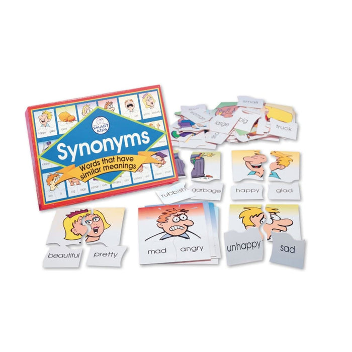 Synonyms Puzzle Game - English Language Skills & Activities Memory & Listening Visual & Audio Exploration