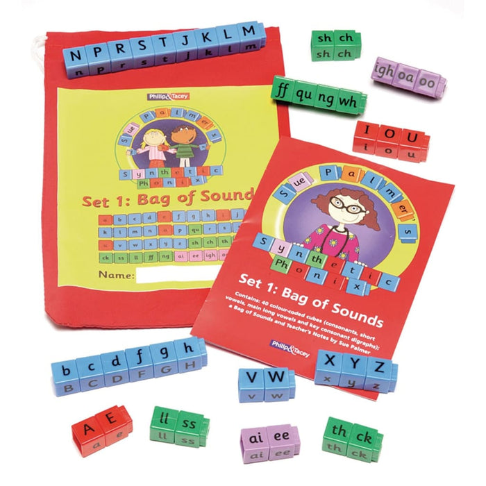 Synthetic Phonix Set 1 Bag Of Sounds Multi Pack - English Language Skills & Activities Phonics & Multiphonics Spelling