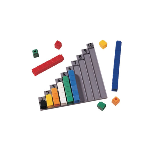 Unifix 1- 10 Stair - Maths Number Works & Games Sequencing & Predicting Sorting & Counting