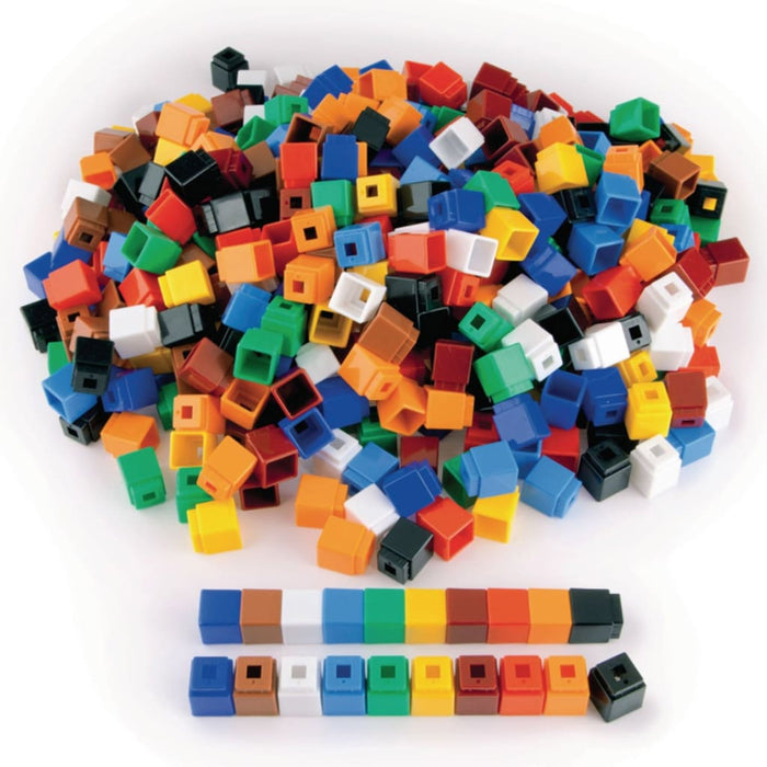 Unifix Cube Pack 500 - Maths Number Works & Games Sequencing & Predicting Sorting & Counting