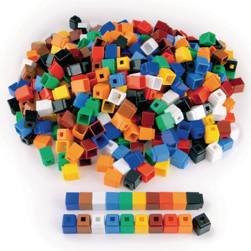 Unifix Cubes - Pack 1000 - Maths Number Works & Games Sequencing & Predicting Sorting & Counting