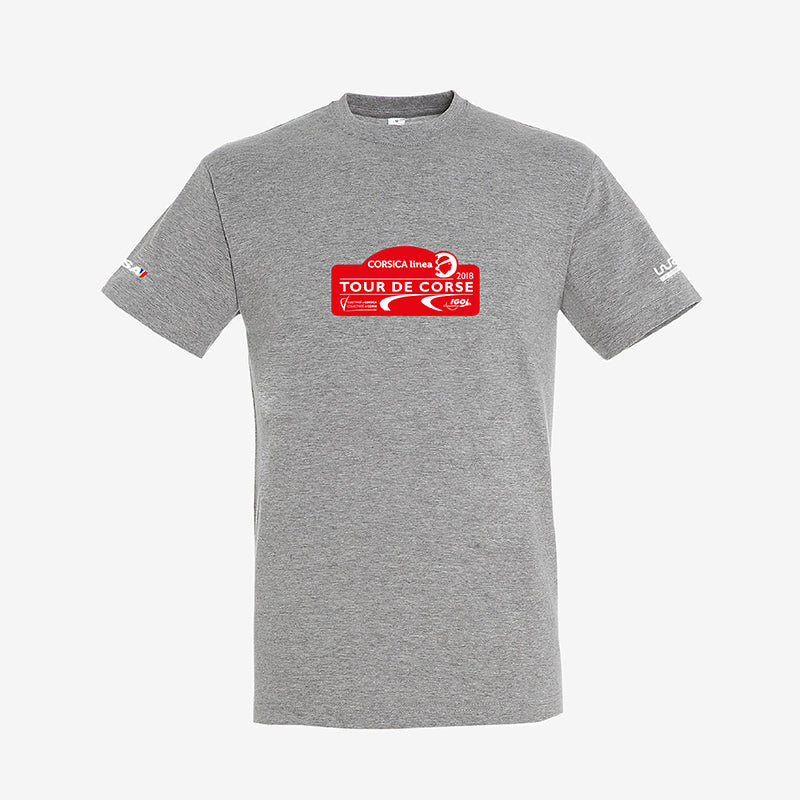 T-shirt Plaque Tour de Corse WRC 2018 Gris