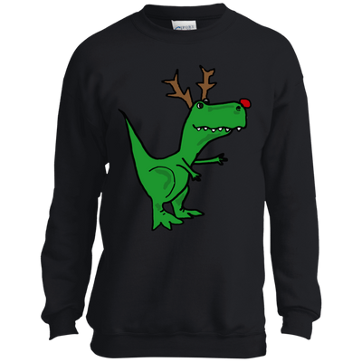 ugly christmas sweaters cool funny christmas t rex dinosaur with antlers - Ugly Christmas Sweater Dinosaur