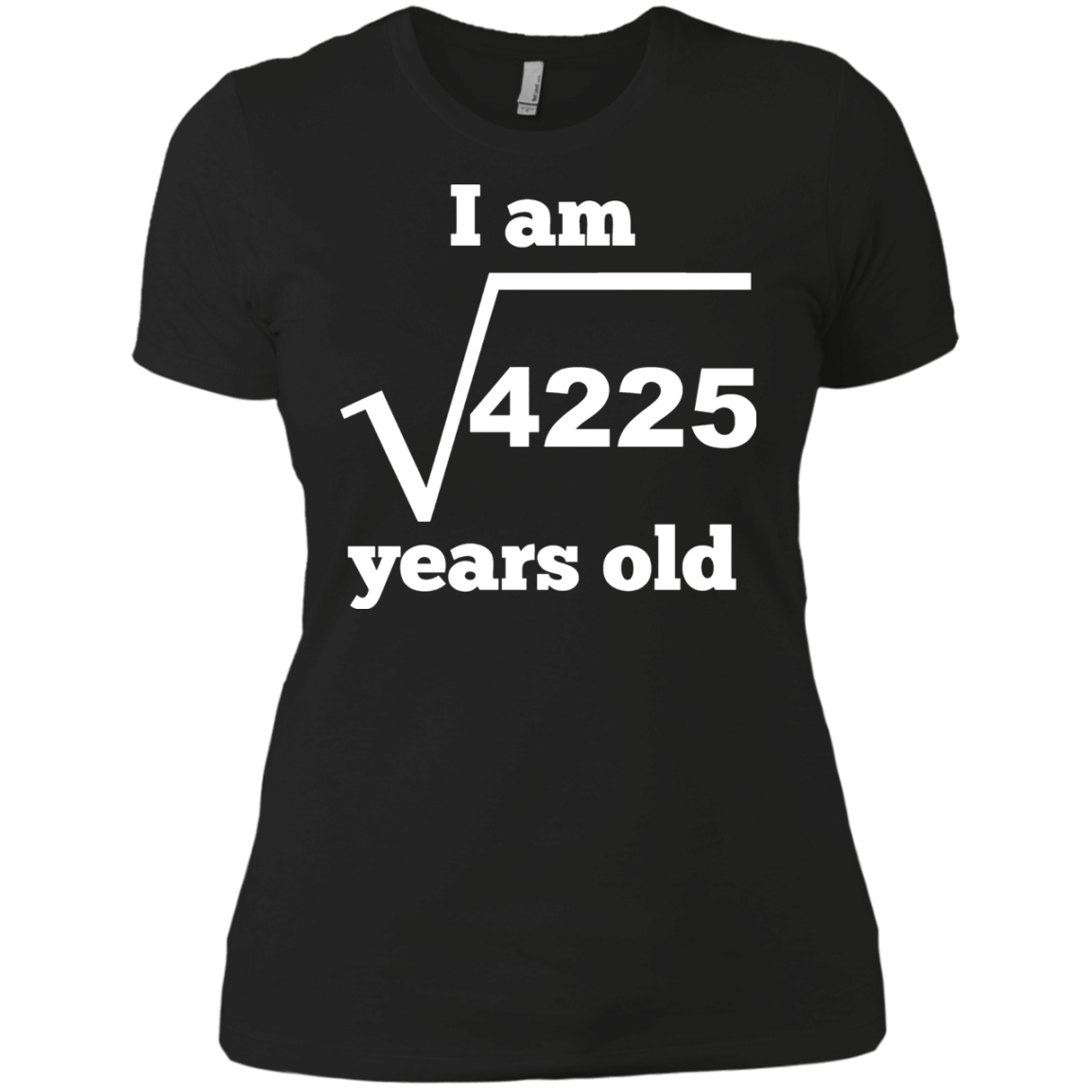 I Am 65 Years Old Square Root Funny 65th Birthday T Shirt Hoodie