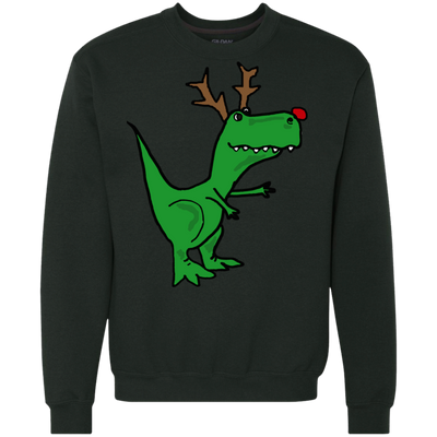 ugly christmas sweaters cool funny christmas t rex dinosaur with antlers - Dinosaur Christmas Sweater