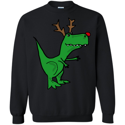 ugly christmas sweaters cool funny christmas t rex dinosaur with antlers - Funny Christmas T Shirts