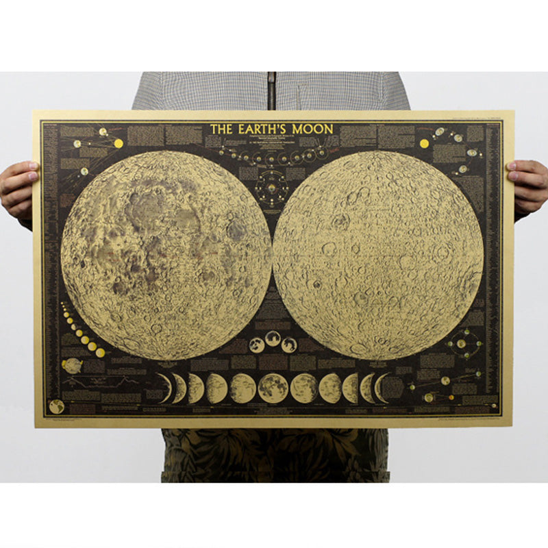 Vintage Moon Poster - smokethrow.com