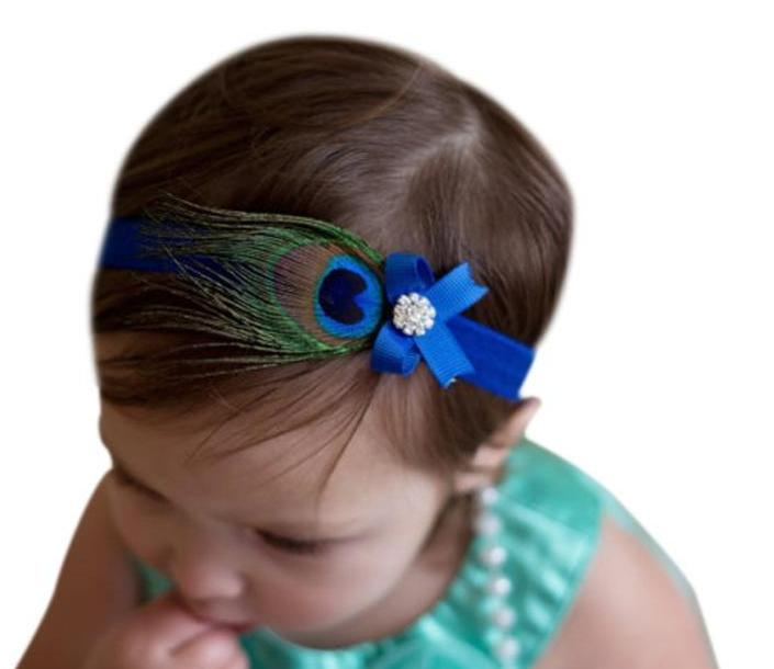 Faux Peacock Hair Band- assorted colors - smokethrow.com