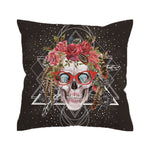 Sugar Skull with Floral - smokethrow.com