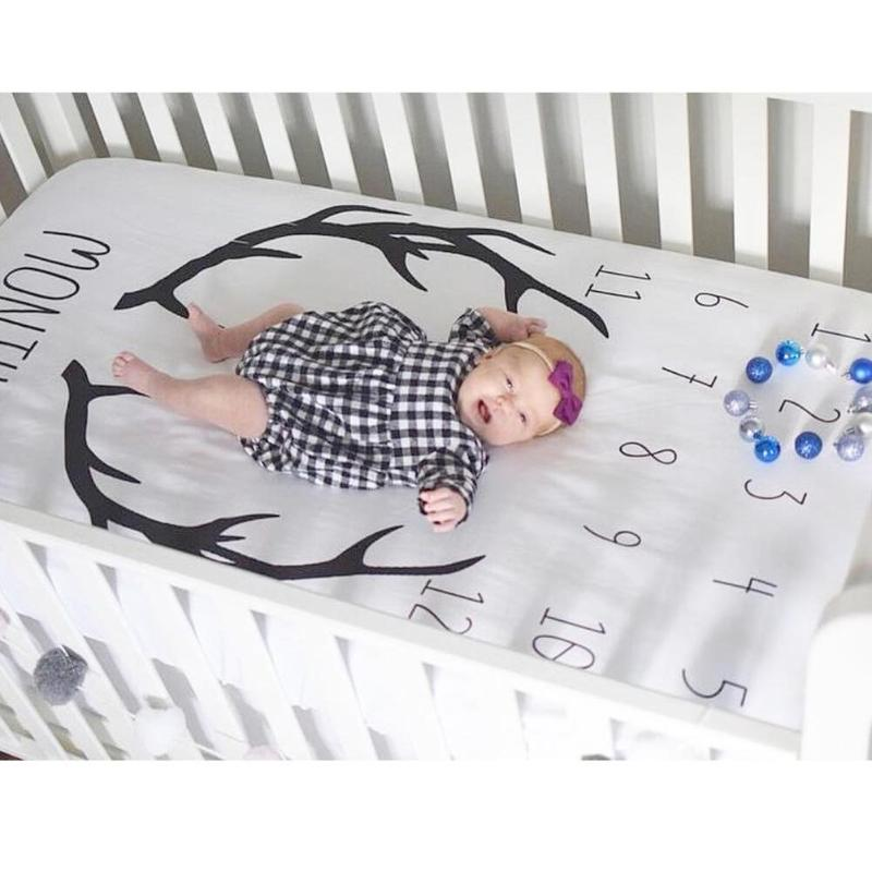 Baby Milestone Crib Sheet- assorted styles - smokethrow.com