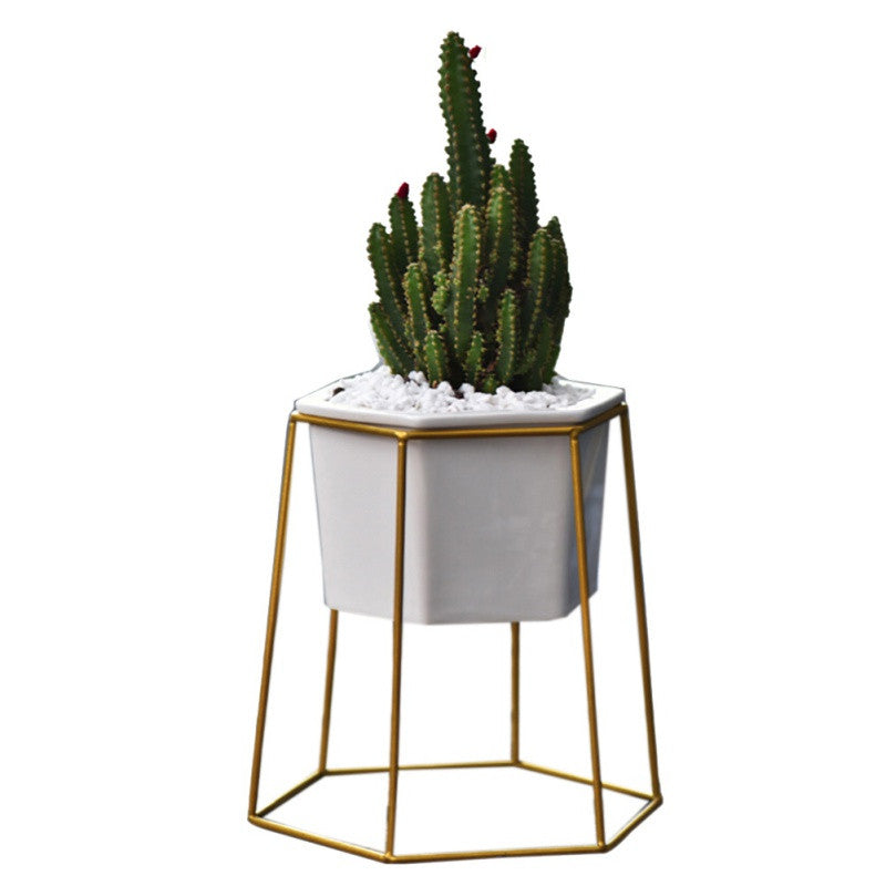 Stoppe Geometric Planter- assorted colors - smokethrow.com