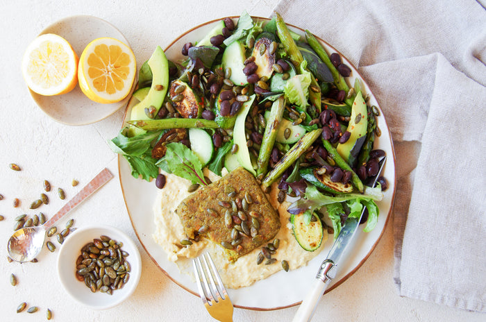 Amino Mantra - Fijian Turmeric and Cumin Patties Salad - Gluten-free Vegan