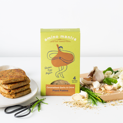 Plant based patties with lysine