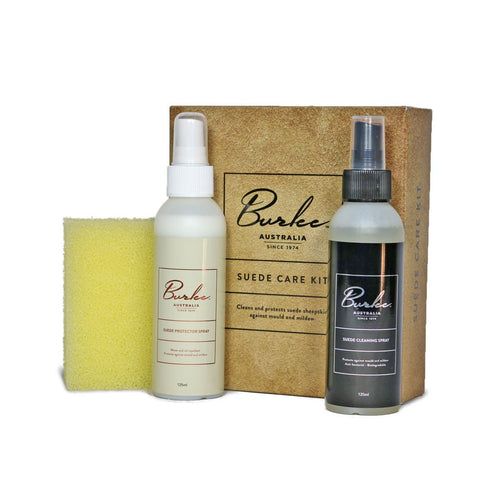Burlee sheepskin boot Care Kit. Contains 125ml Suede Protector Spray, 125ml Wool Shampoo and sponge