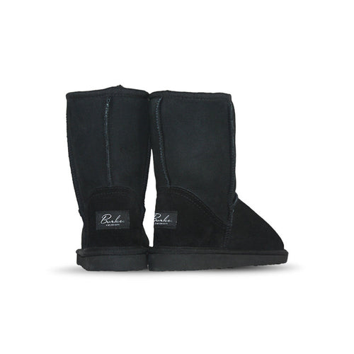 Burlee classic medium size black sheep skin boots, ugg style mid high boots
