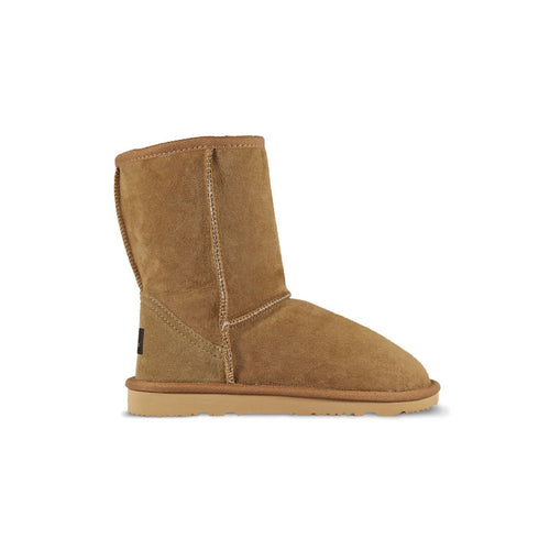 Burlee classic medium size chestnut sheepskin boots, ugg style boots