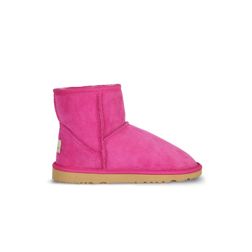 Burlee classic mini size fuschia pink colour sheepskin boots