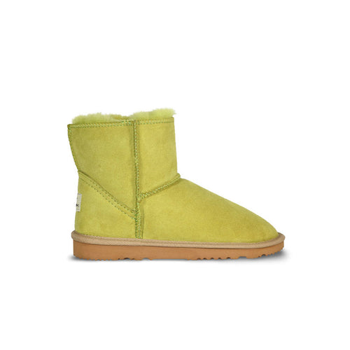 Burlee classic mini size lime green colour sheepskin boots, ugg style boots