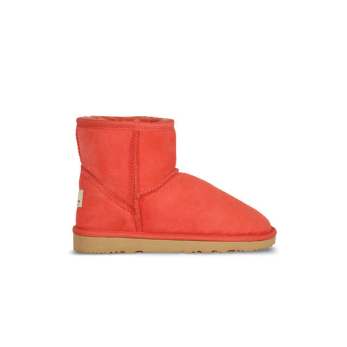 Burlee classic mini size tangerine orange colour sheepskin ugg boot