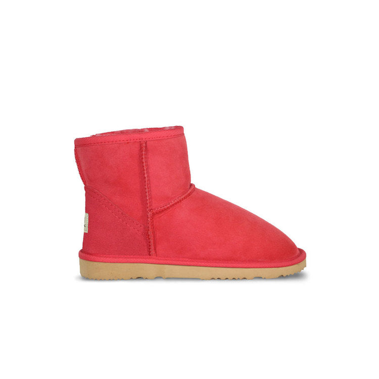 Burlee classic mini size tomato red colour sheepskin boots, ugg style boots
