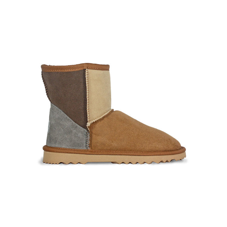 Burlee classic mini size sand chocolate chestnut colour sheepskin boots
