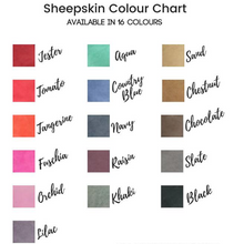 colour chart | color range | sheepskin colours | couleurs | gamme de couleurs