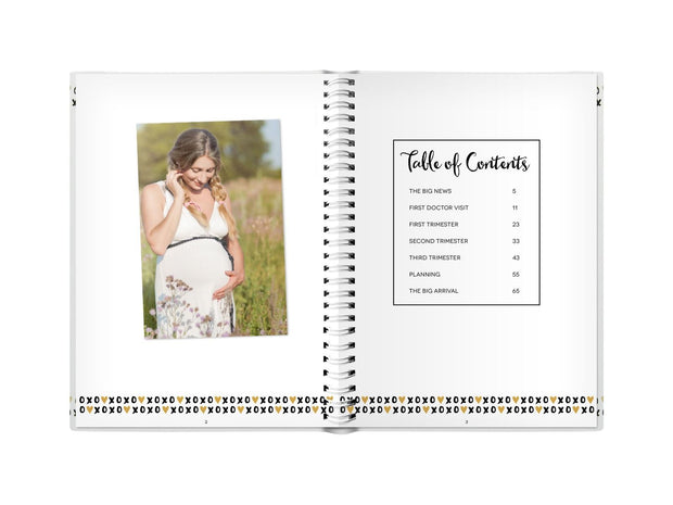 Pearhead Pregnancy Journal White/Black