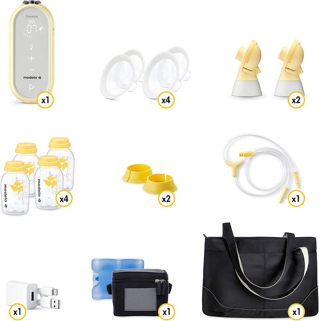 NEW Medela Freestyle Flex Breast Pump with FREE EASY EXPRESSION BUSTIER