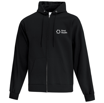 Sinai Health Branded Full-Zip Hoodie Sweatshirt (Black)