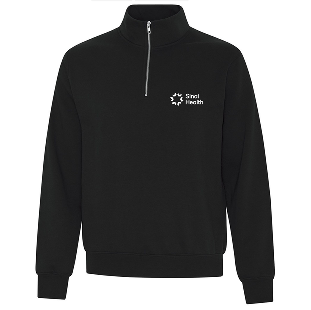 Personalized Sinai Health Branded Quarter-Zip Sweatshirt (Black)