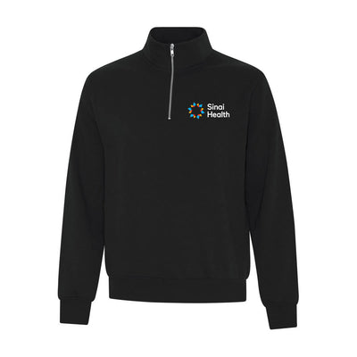 Sinai Health Quarter-Zip Screen Logo Sweatshirt (Black)