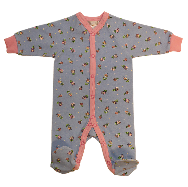 Itty Bitty Baby Footie Sleeper (Pink/Blue Floral)