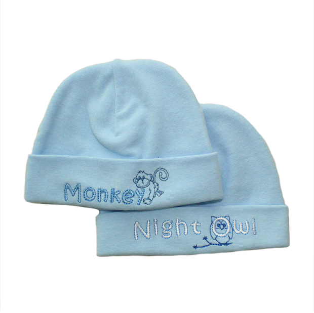 Itty Bitty Baby Embroidered Toques (Blue)