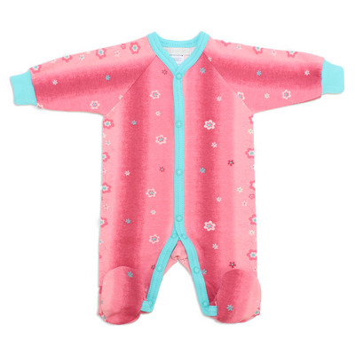 Itty Bitty Baby Preemie Footie Sleeper (Pink Hawaii)