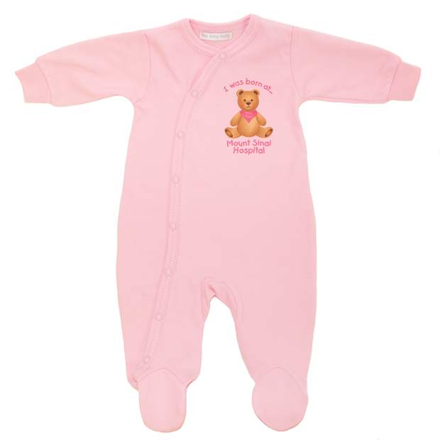 Mount Sinai Footie Sleeper by Itty Bitty Baby (Pink)