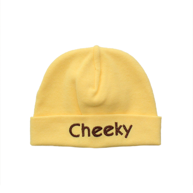 Itty Bitty Baby Embroidered Toques (Yellow)