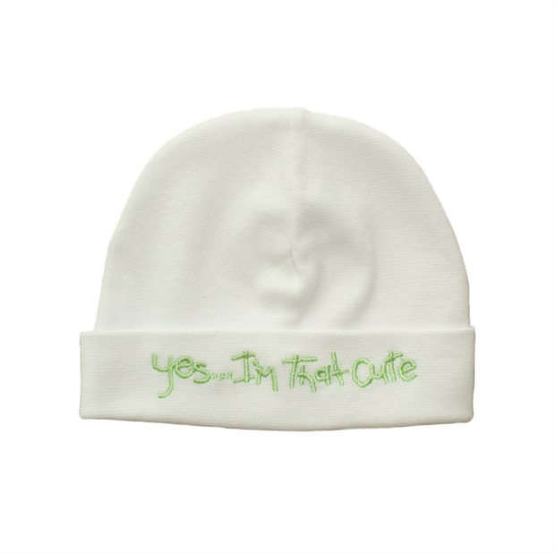 Itty Bitty Baby Embroidered Toques (White)