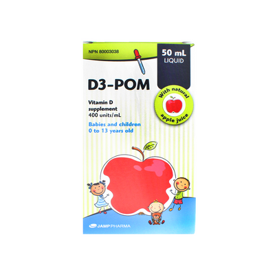 Children's Vitamin D3-POM Supplements (0-13 years old)