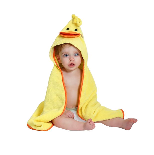 Zoochini Baby Towel (Puddles the Duck)