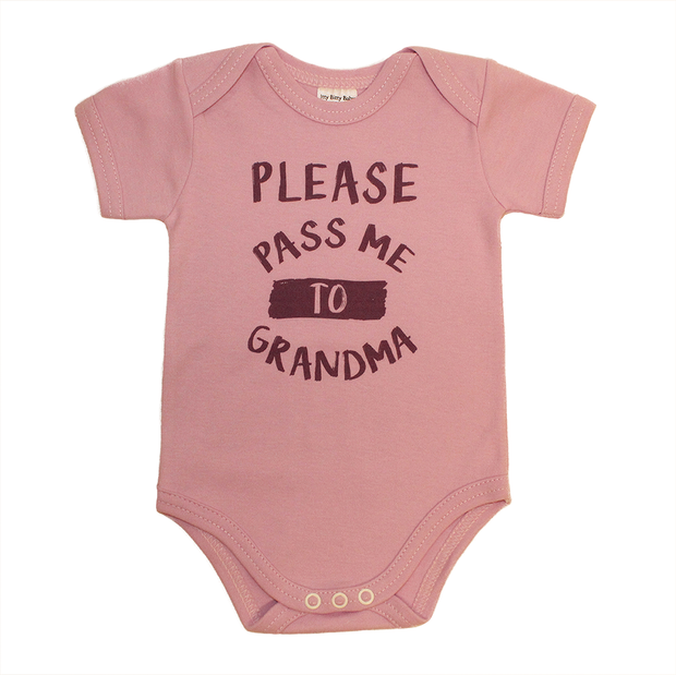 Itty Bitty Baby Please Pass Me To Grandma (Mauve)