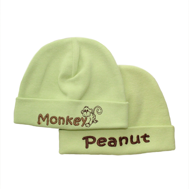 Itty Bitty Baby Embroidered Toques (Green)
