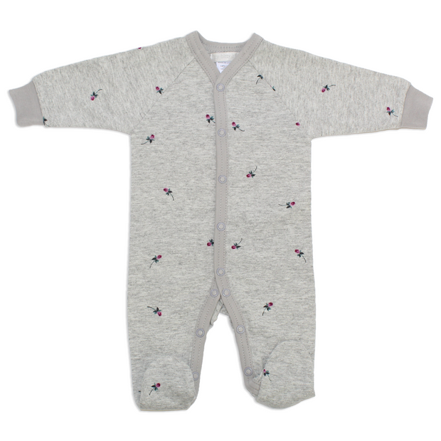 Itty Bitty Baby Grey Rose Footie