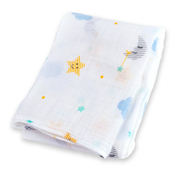 lulujo Cotton Muslin Receiving Blanket (Dreamland)